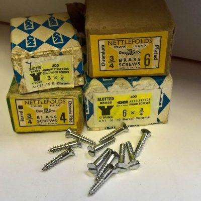 Chrome Plated Brass Screws